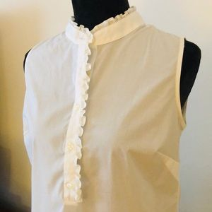 Lands End sleeveless blouse size 6